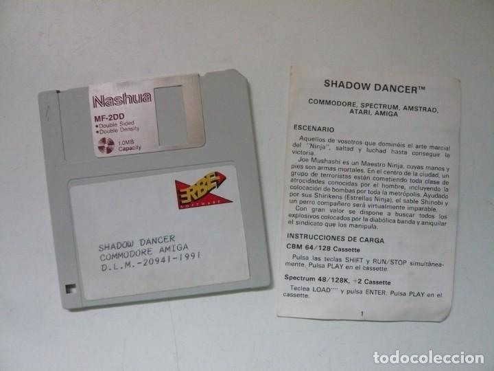 Videojuegos y Consolas: Shadow Dancer / CAJA CARTÓN / COMMODORE AMIGA / RETRO VINTAGE / DISCO - DISKETTE - DISQUETE - Foto 3 - 284754938