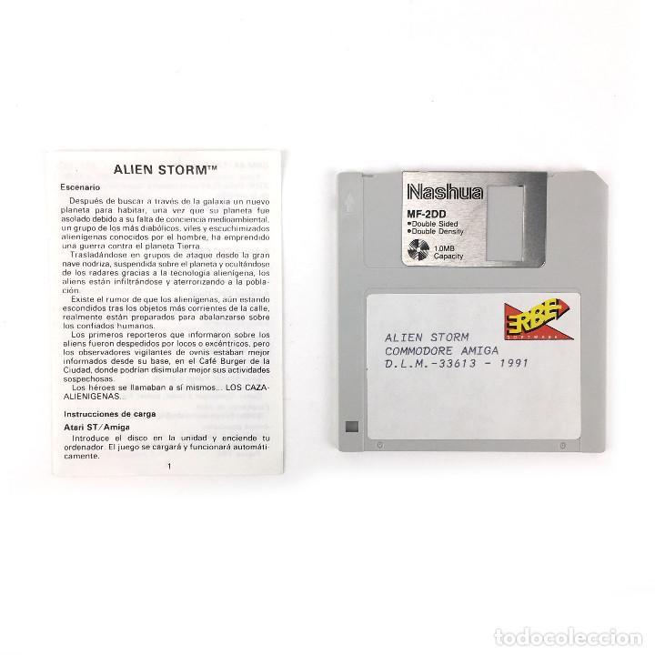 ALIEN STORM · ERBE ESPAÑA SEGA 1991 JUEGO RETRO INFORMATICA VINTAGE DISKETTE 3½ COMMODORE AMIGA DISK (Juguetes - Videojuegos y Consolas - Amiga)