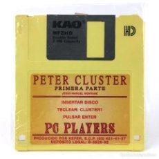 Videojuegos y Consolas: PETER CLUSTER RARO JUEGO ESPAÑOL KEFER JESUS MANUEL MONTANE PC PLAYERS 1992 COMMODORE AMIGA DISKETTE. Lote 288586933