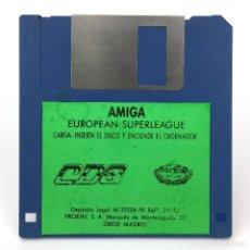 Videojuegos y Consolas: EUROPEAN SUPERLEAGUE PROEIN SOFT LINE CDS 1990 FUTBOL SOCCER COPA DE EUROPA COMMODORE AMIGA DISKETTE. Lote 291354453