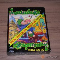 Videojuegos y Consolas: LEMMINGS & OH NO MORE LEMMINGS COMPLETO LIMITED EDITION COMMODORE AMIGA PSYGNOSIS. Lote 24583625