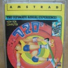 Videojuegos y Consolas: VIDEO JUEGO CASETE AMSTRAD - THE ULTIMATE AERIAL EXPERIENCE 720º -ERBE 1987. Lote 23282763