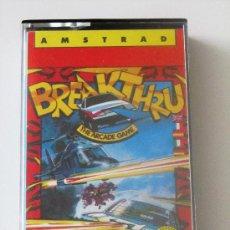 Videojuegos y Consolas: VIDEOJUEGO BREAKTHRU AMSTRAD 464/6128. Lote 27164703