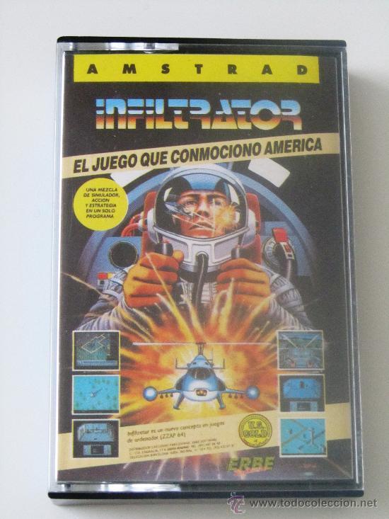 VIDEOJUEGO INFILTRATOR AMSTRAD 464/6128 (Juguetes - Videojuegos y Consolas - Amstrad)