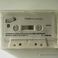 Videojuegos y Consolas: VIDEOJUEGO 2 JUEGOS TITANIC Y PSICHO PIG AMSTRAD 464/6128. Lote 27210574