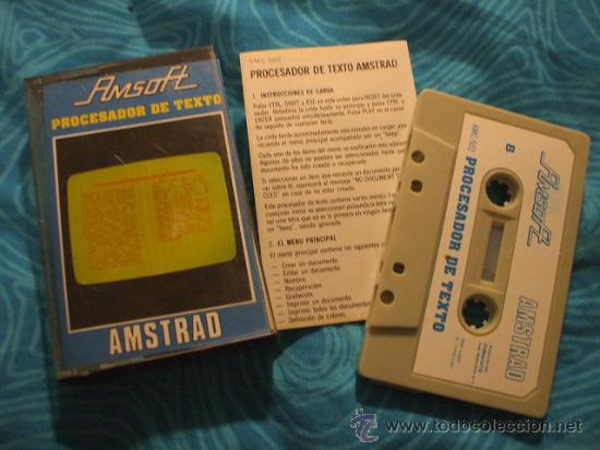 PROCESADOR DE TEXTO AMSTRAD CASSETTE ¡BUEN ESTADO! AMSOFT 1985 (Juguetes - Videojuegos y Consolas - Amstrad)