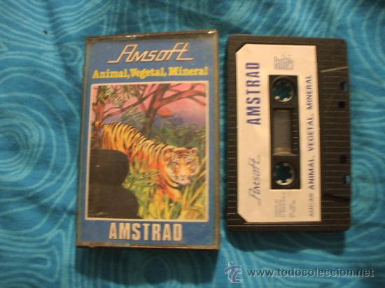 ANIMAL VEGETAL MINERAL AMSTRAD CASSETTE CINTA ¡BUEN ESTADO! AMSOFT 1985 (Juguetes - Videojuegos y Consolas - Amstrad)