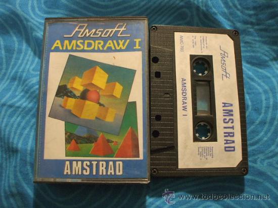 AMSDRAW I AMSTRAD CASSETTE CINTA ¡BUEN ESTADO! AMSOFT 1985 (Juguetes - Videojuegos y Consolas - Amstrad)