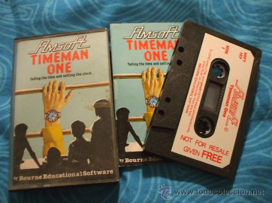 TIMEMAN ONE AMSTRAD CASSETTE ¡BUEN ESTADO! AMSOFT 1985 (Juguetes - Videojuegos y Consolas - Amstrad)