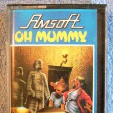 Videojuegos y Consolas: JUEGO AMSTRAD. OH MUMMY . CASETTE AMSOFT.. Lote 36608948
