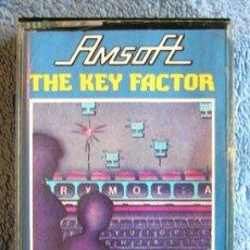 Videojuegos y Consolas: JUEGO AMSTRAD. THE KEY FACTOR . CASETTE AMSOFT.. Lote 36608985