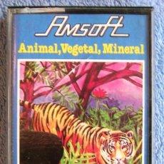 Videojuegos y Consolas: JUEGO AMSTRAD. ANIMAL, VEGETAL, MINERAL . CASETTE AMSOFT.. Lote 36610818