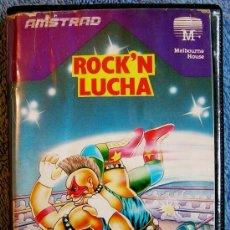 Videojuegos y Consolas: JUEGO AMSTRAD. ROCK'N WRESTLE (ROCK'N LUCHA ).DE MELBOURNE HOUSE. CASETTE ERBE.. Lote 36952098