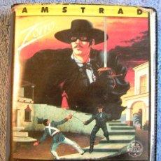 Videojuegos y Consolas: JUEGO AMSTRAD. - ZORRO - DE DATASOFT. CASETTE CBS.. Lote 36953271