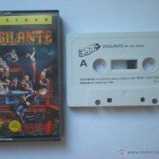 Videojuegos y Consolas: VIGILANTE_AMSTRAD,SPECTRUM,COMMODORE_ERBE_U.S. GOLD_CASSETTE 1989 COMO NUEVA!!!. Lote 42918911