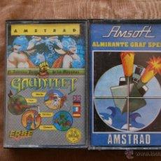 Videojuegos y Consolas: GAUNTLET - ALMIRANTE GRAF SPEE AMSTRAD CINTA CASSETTE. Lote 43697756
