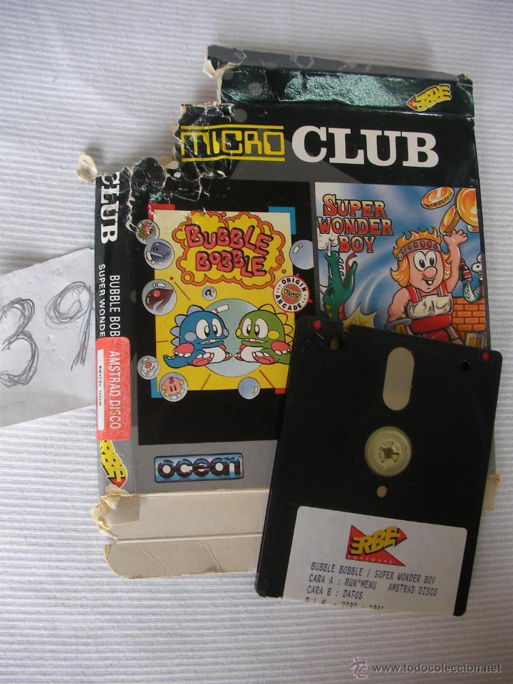 Antiguo Juego Amstrad Disco 2 En 1 Bubble B Comprar