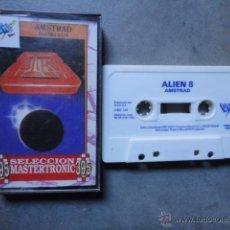 Videojuegos y Consolas: JJ JUEGO ORIGINAL CASETE AMSTRAD ALIEN 8 1988 FABRICADO EN ESPAÑA . Lote 47421044