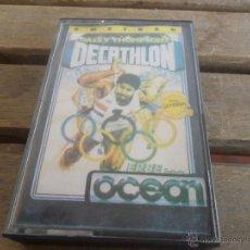 Videojuegos y Consolas: JUEGO VIDEOJUEGOS DE LA CONSOLA AMSTRAD OCEANDALEY THOMPSON S DECATHLON. Lote 48072136