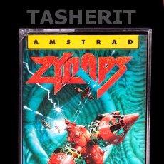 Videojuegos y Consolas: ZYNAPS - AMSTRAD CPC CINTA CASETE ERBE ESPAÑOL RETRO 8 BITS JUEGO EN CASSETTE HEWSON. Lote 52023474