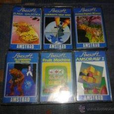 Videojuegos y Consolas: LOTE 6 JUEGOS AMSTRAD,VINTAGE,ANTIGUOS JUEGOS EN CINTA. Lote 52392897