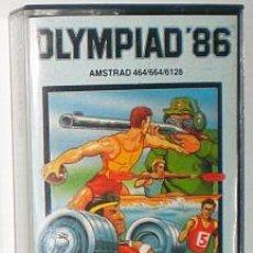 Videojuegos y Consolas: OLYMPIAD´86 [ATLANTIS SOFTWARE] 1986 - ZAFIRO Z-COBRA [AMSTRAD CPC]. Lote 52394471