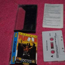 Videojuegos y Consolas: AMSTRAD ERBE PLATOON SPANISH VERSION 1987 BY OCEAN. Lote 52534609