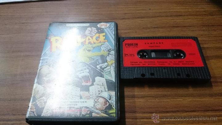 Videojuegos y Consolas: JUEGO CASSETTE AMSTRAD RAMPAGE 1987 CINTA AMSTRAD - Foto 2 - 52940997
