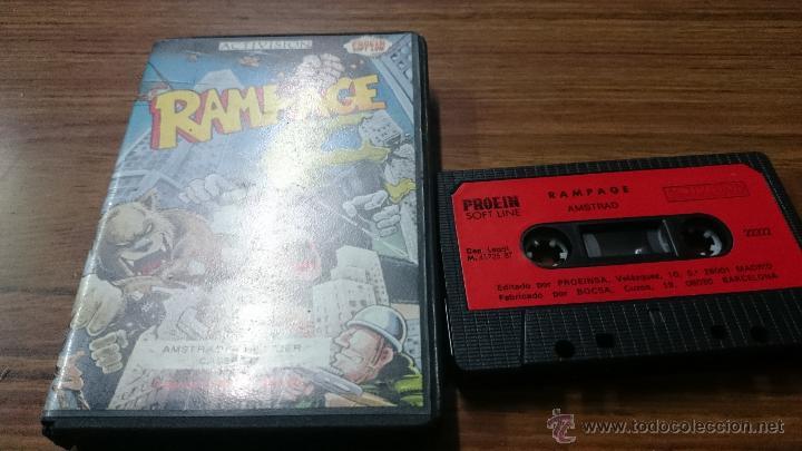 Videojuegos y Consolas: JUEGO CASSETTE AMSTRAD RAMPAGE 1987 CINTA AMSTRAD - Foto 3 - 52940997