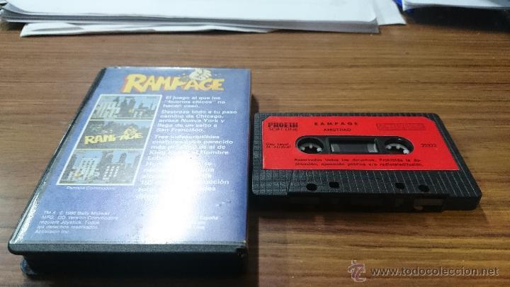 Videojuegos y Consolas: JUEGO CASSETTE AMSTRAD RAMPAGE 1987 CINTA AMSTRAD - Foto 4 - 52940997