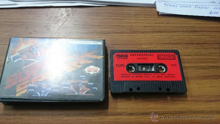 Videojuegos y Consolas: JUEGO CASSETTE AMSTRAD SUPESPRINT 1987 CINTA AMSTRAD - Foto 2 - 52942356