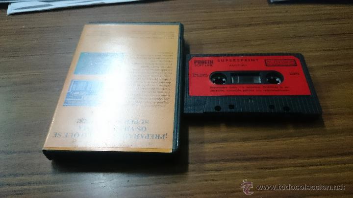 Videojuegos y Consolas: JUEGO CASSETTE AMSTRAD SUPESPRINT 1987 CINTA AMSTRAD - Foto 3 - 52942356