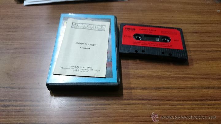 Videojuegos y Consolas: JUEGO CASSETTE AMSTRAD ENDURO RACER 1987 CINTA AMSTRAD - Foto 2 - 52962991