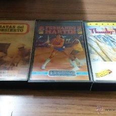 Videojuegos y Consolas: LOTE 3 JUEGOS CASSETTE AMSTRAD RATAS DEL DESIERTO- FERNNDO MARTIN-THUNDERBLADE-JUEGO CINTA AMSTRAD. Lote 52963933