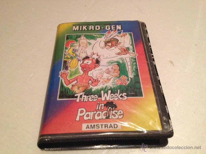THREE WEEKS IN PARADISE AMSTRAD/JUEGO PARA ORDENADOR AMSTRAD PIERDETE EN EL PARAISO ERBE (Juguetes - Videojuegos y Consolas - Amstrad)