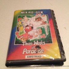 Videojuegos y Consolas: THREE WEEKS IN PARADISE AMSTRAD/JUEGO PARA ORDENADOR AMSTRAD PIERDETE EN EL PARAISO ERBE. Lote 53285343