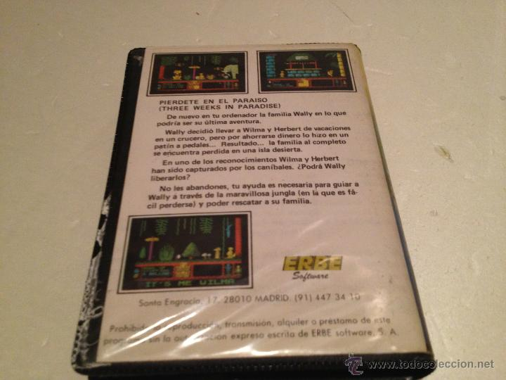 Videojuegos y Consolas: Three weeks in paradise amstrad/juego para ordenador amstrad pierdete en el paraiso erbe - Foto 2 - 53285343