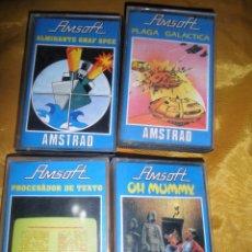 Videojuegos y Consolas: LOTE DE 4 JUEGOS AMSTRAD. CASSETTE AMSOFT *. Lote 53637589