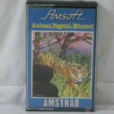 Videojuegos y Consolas: AMSTRAD *** CASETE ANIMAL, VEGETAL, MINERAL (DIDACTICO) *** AMSOFT *** PRODUCIDO POR INDESCOMP. Lote 54150148