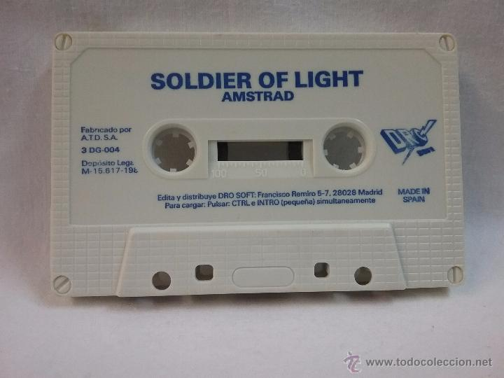 JUEGO VIDEOJUEGO PARA AMSTRAD SOLDIER OF LIGHT - MADE IN SPAIN (Juguetes - Videojuegos y Consolas - Amstrad)