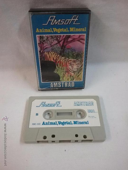 JUEGO VIDEOJUEGO PARA AMSTRAD ANIMAL, VEGETAL , MINERAL (Juguetes - Videojuegos y Consolas - Amstrad)
