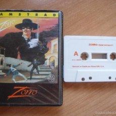 Videojuegos y Consolas: ZORRO - AMSTRAD - CINTA CASETE. Lote 57564372