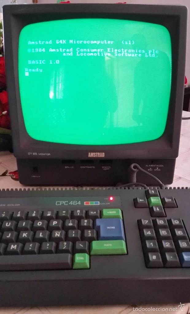 AMSTRAD CPC 464 + JUEGO ORIGINAL, OH MUMMY + MANUAL ORIGINAL + JOCKSTICK --FUNCIONA-- (Juguetes - Videojuegos y Consolas - Amstrad)