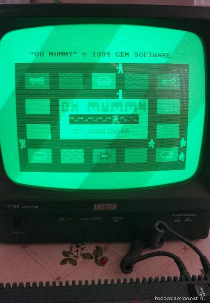 Videojuegos y Consolas: AMSTRAD CPC 464 + JUEGO ORIGINAL, OH MUMMY + MANUAL ORIGINAL + JOCKSTICK --FUNCIONA-- - Foto 5 - 58110316