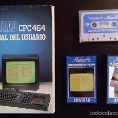 Videojuegos y Consolas: AMSTRAD CPC 464 / MANUAL DEL USUARIO + PROCESADOR DE TEXTO + AMSDRAW / ESPAÑOL / 1985. Lote 52435593
