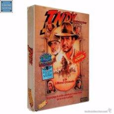 Videojuegos y Consolas: INDIANA JONES Y LA ÚLTIMA CRUZADA / JUEGO AMSTRAD CPC CINTA / ESPAÑOL / ERBE 1991. Lote 60170259