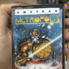 Videojuegos y Consolas: METROPOLIS [TOPO SOFTWARE] 1988 - ERBE SOFTWARE [AMSTRAD CPC] TROJAN CAPCOM. Lote 62015500