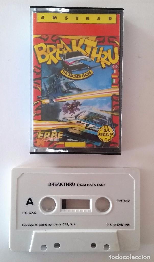 JUEGO AMSTRAD: BREAKTHRU ---FUNCIONANDO--- (Juguetes - Videojuegos y Consolas - Amstrad)