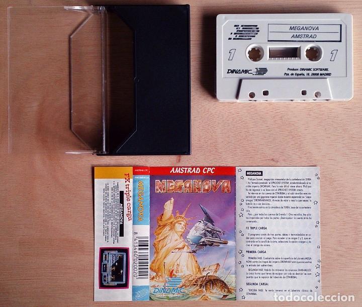 Videojuegos y Consolas: Meganova / Juego Amstrad CPC Cinta / Español / Dinamic 1988 ( Azpiri Cover ) - Foto 2 - 62593488
