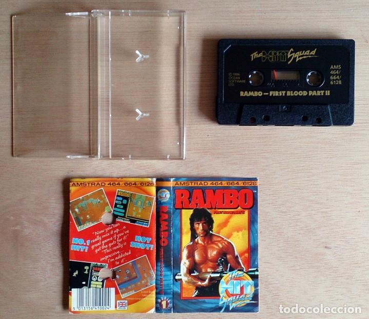 Videojuegos y Consolas: Rambo / Juego Amstrad CPC Cinta / The Hit Squad 1986 - Foto 2 - 63163780